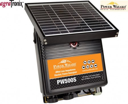 Power Wizard Solar Powered Energizer 12V 0.50 Joule 100 Acres 30 Miles