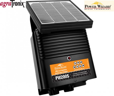Power Wizard Solar Powered Energizer 12V 0.25 Joule 50 Acres 20 Miles