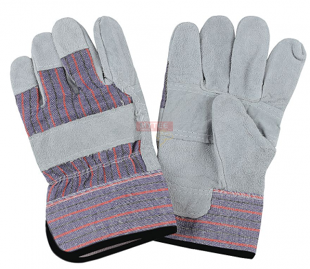Leather Palm Industrial Gloves - Large
