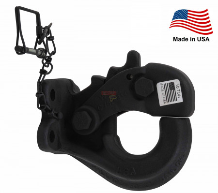 10-Ton Heavy Duty Rigid Mount Pintle Hook Made in USA