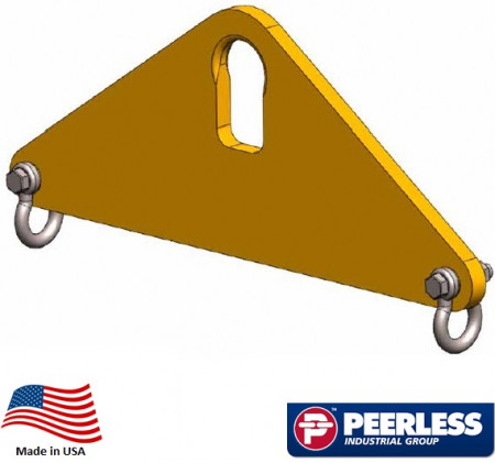 Short Span Lifting Beam 3 Ton Capacity, 3 Ft Outside Spread