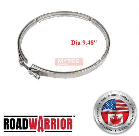 ROADWARRIOR DPF/DOC Clamp for Dia 9.48""