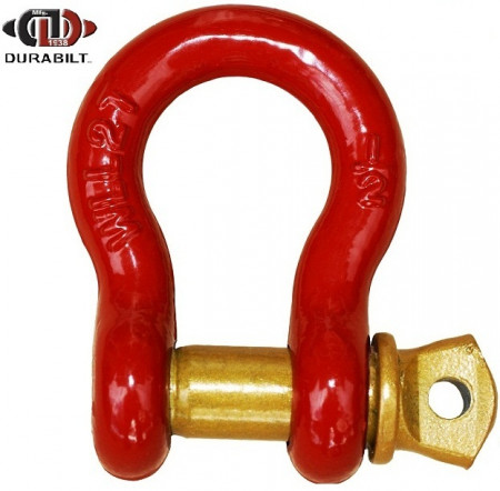 Anchor or Bow Type Shackle Made with Forged Carbon Steel & Alloy Screw Pin 2T WLL