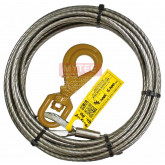 "3/8"" x 50' Super Swage Winch Line With Self Locking Hook"