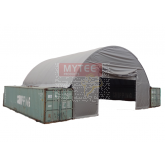 Wall for Container Shelter 20' Wide, White 21oz PVC Tarp.