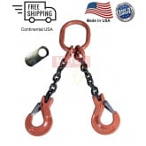 Chain Sling G100 2-Leg Clevis Sling Hook w/ Latch