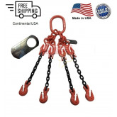 Chain Sling G100 4-Leg with Adjusters, Cradle Clevis Grab Hook