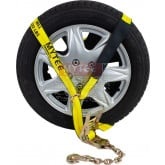 "2""x12' Side Mount Wheel Net w/ Ratchet and Chain Anchor"