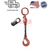 Chain Sling G100 1-Leg with Adjuster, Clevis Sling Hook w/ Latch