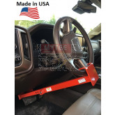 """Wheel to Pedal Lock - Adjusts from 28"""" - 33"""" From Wheel to Brake Pedal - Key Lock"""