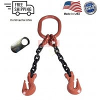 Chain Sling G100 2-Leg Cradle Clevis Grab Hook