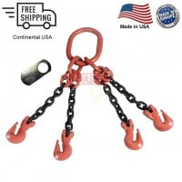 Chain Sling G100 4-Leg Cradle Clevis Grab Hook