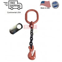 Chain Sling G100 1-Leg Cradle Clevis Grab Hook