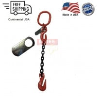Chain Sling G100 1-Leg with Adjuster, Cradle Clevis Grab Hook
