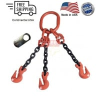 Chain Sling G100 3-Leg Cradle Clevis Grab Hook