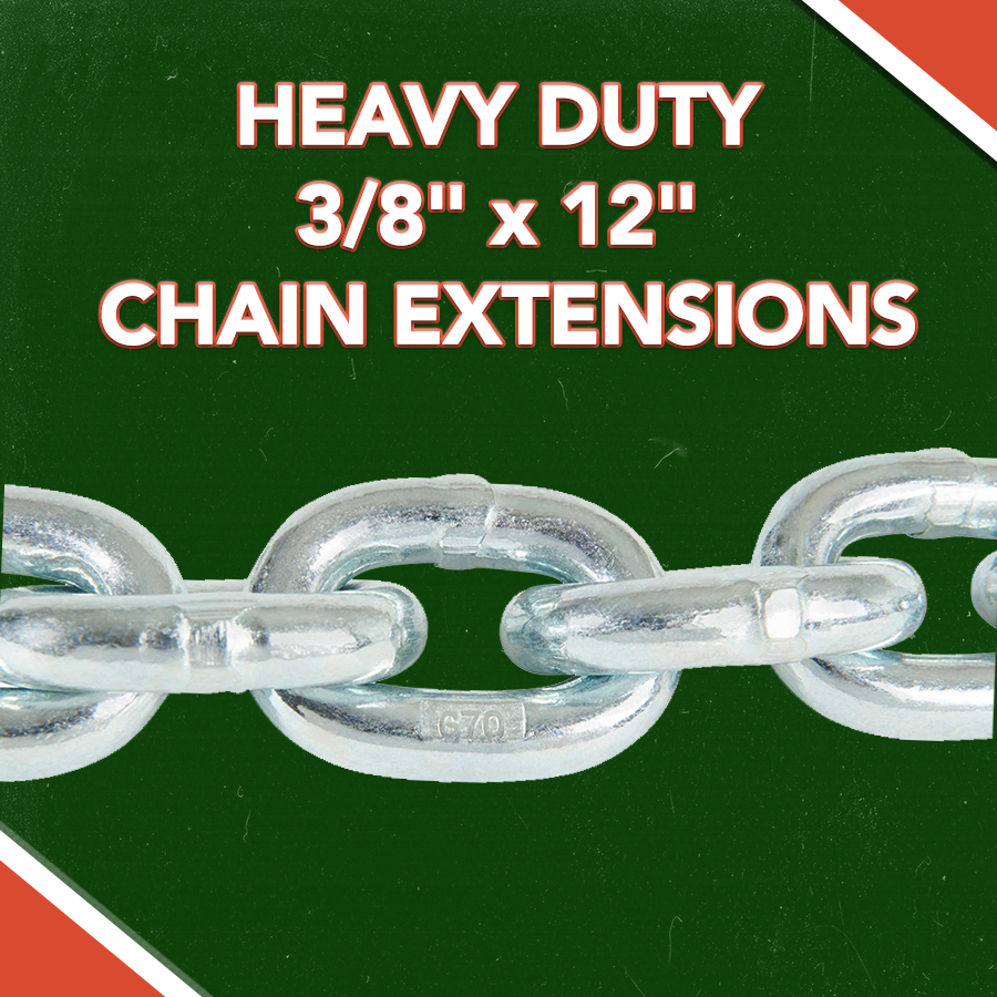 """HEAVY DUTY 3/8"""" x 12"""" CHAIN EXTENSIONS"""