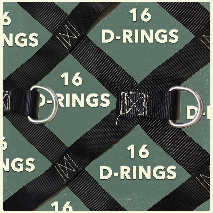 16 D-RINGS