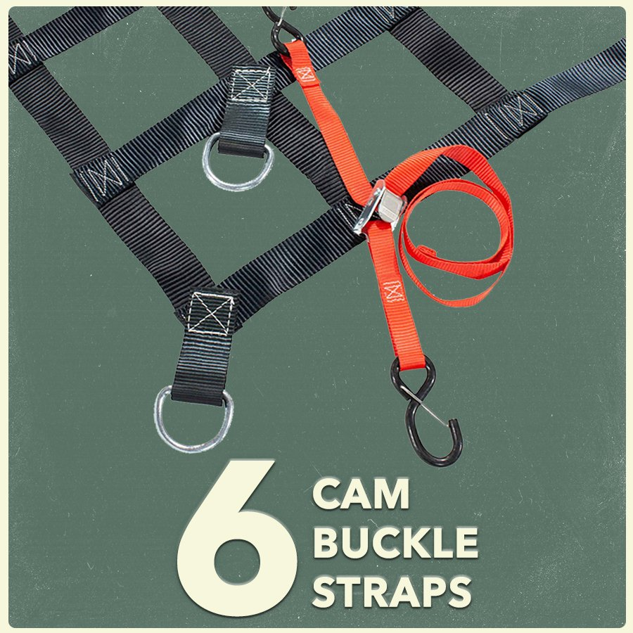 6 Cam Buckle Straps