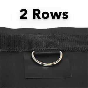 3 Rows of D Rings