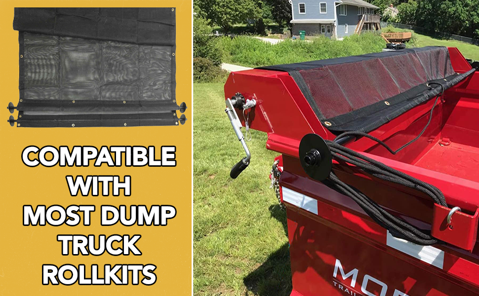 USE THIS TARP WITH A DUMP TRUCK ROLLKIT