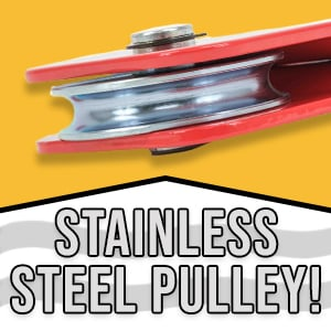 Stainless Steel, Heavy-Duty Pulley!