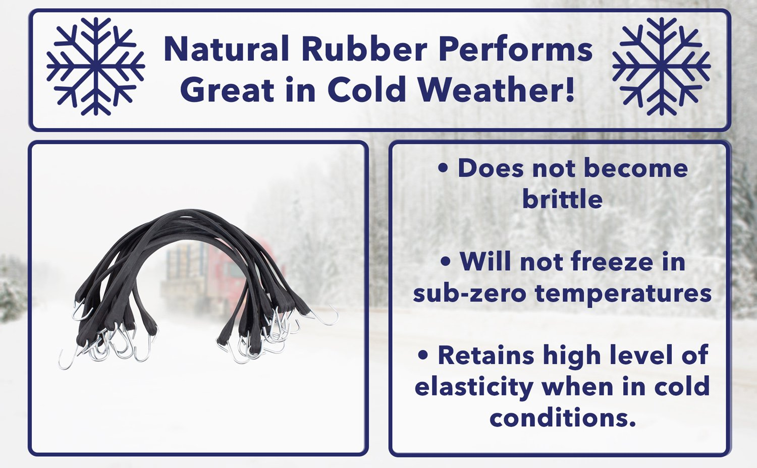 Natural Rubber Performs Great in Cold Weather!