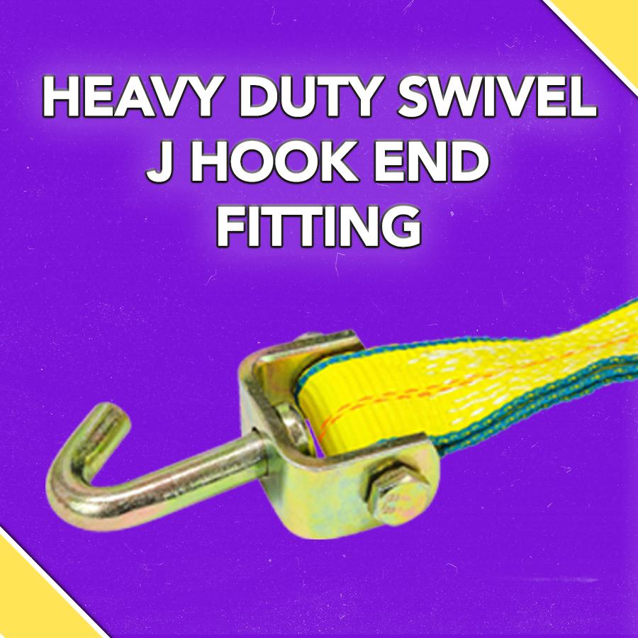 HEAVY DUTY SWIVEL J HOOK END FITTING