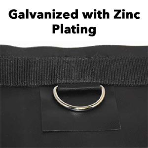 Zinc Plated D-RIngs