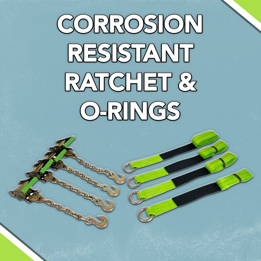 CORROSION-RESISTANT RATCHET AND O-RINGS