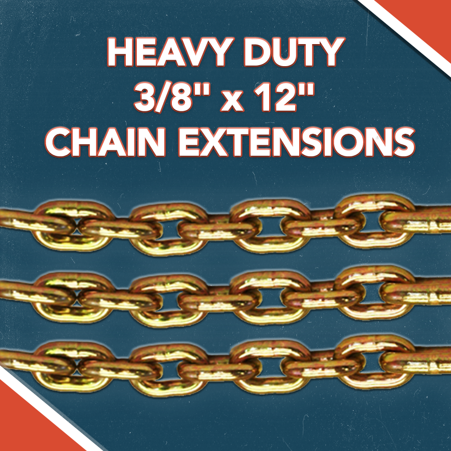 "HEAVY DUTY 3/8"" x 12"" CHAIN EXTENSIONS"