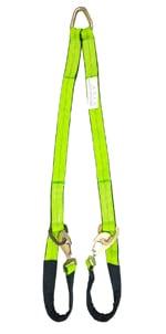 "2"" x 4' w/ Cordura Sleeve and Axle Straps, w/ Snap Hooks"